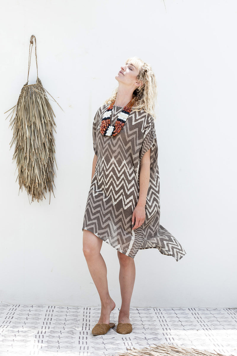 Block Printed Summer Beach Dress