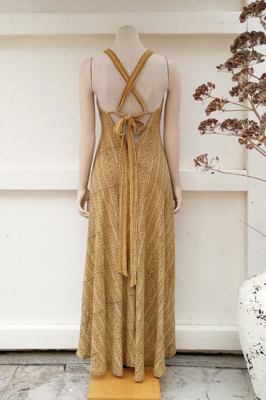 Raw Silk Block Printed Boho Chic Dress