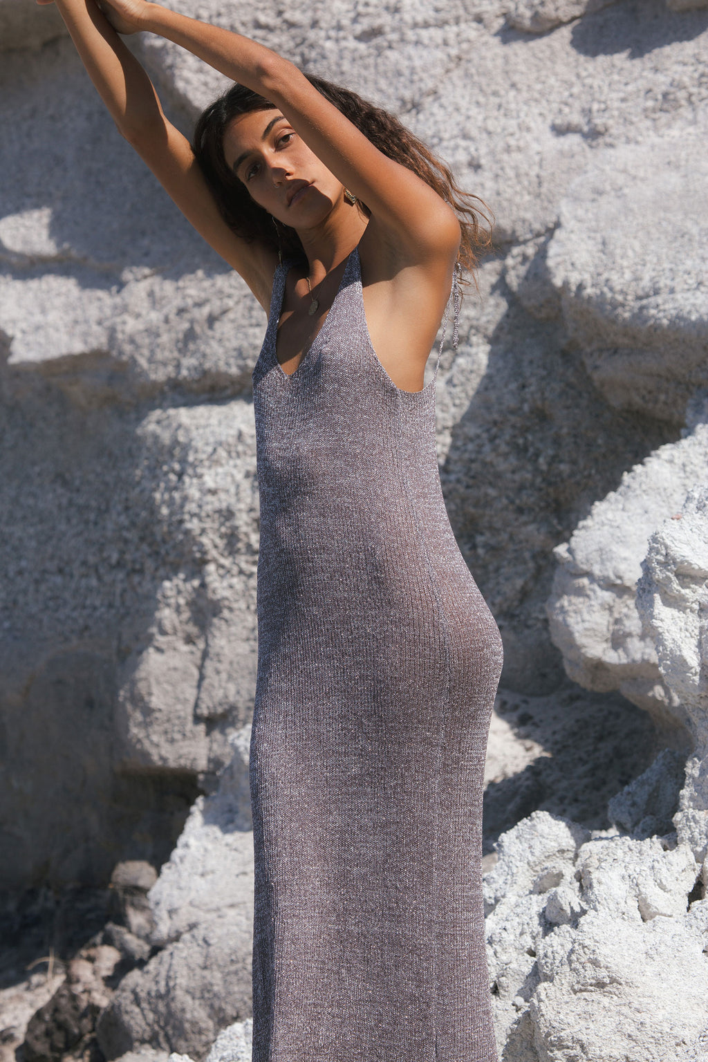 Summer Long Sexy Plum Dress