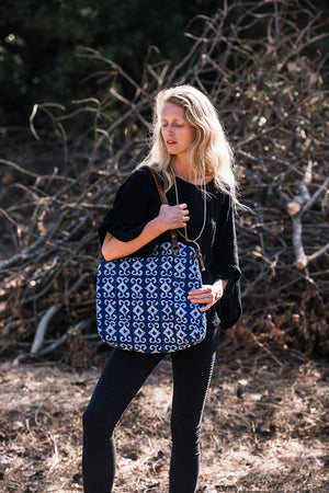 Indigo Blue Bohemian Shoulder Handbag