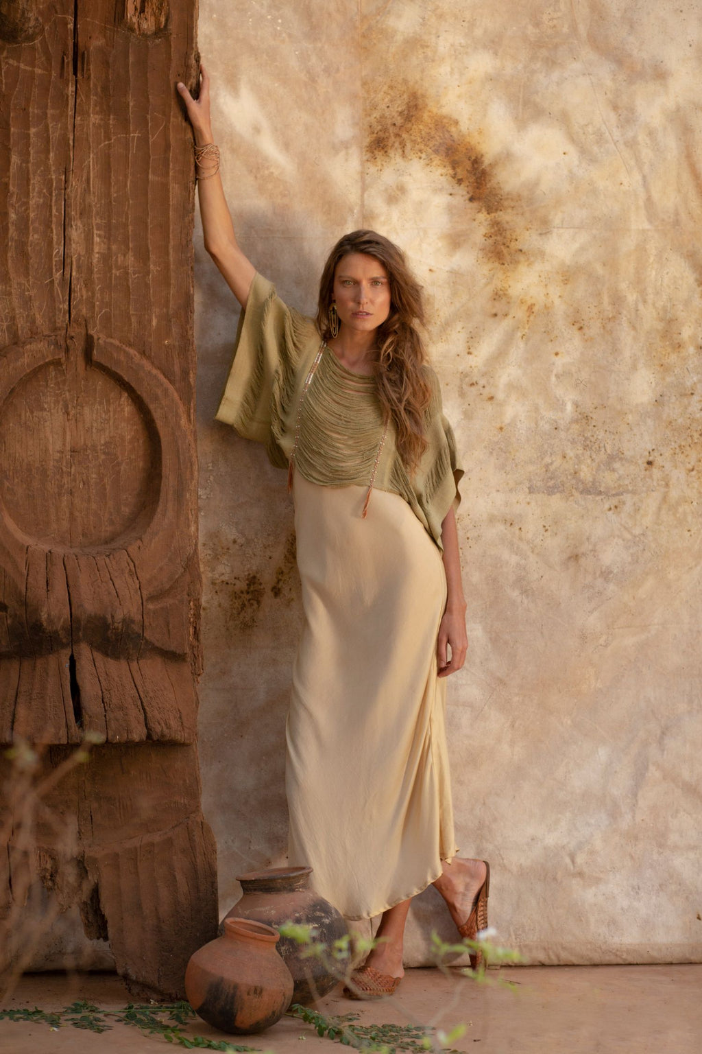 Vegan Silk Long Slip Summer Dress