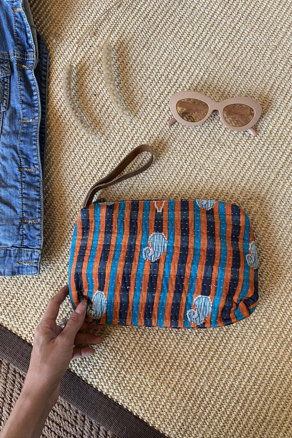 ALEXANDER CLUTCH BLUE AND ORANGE