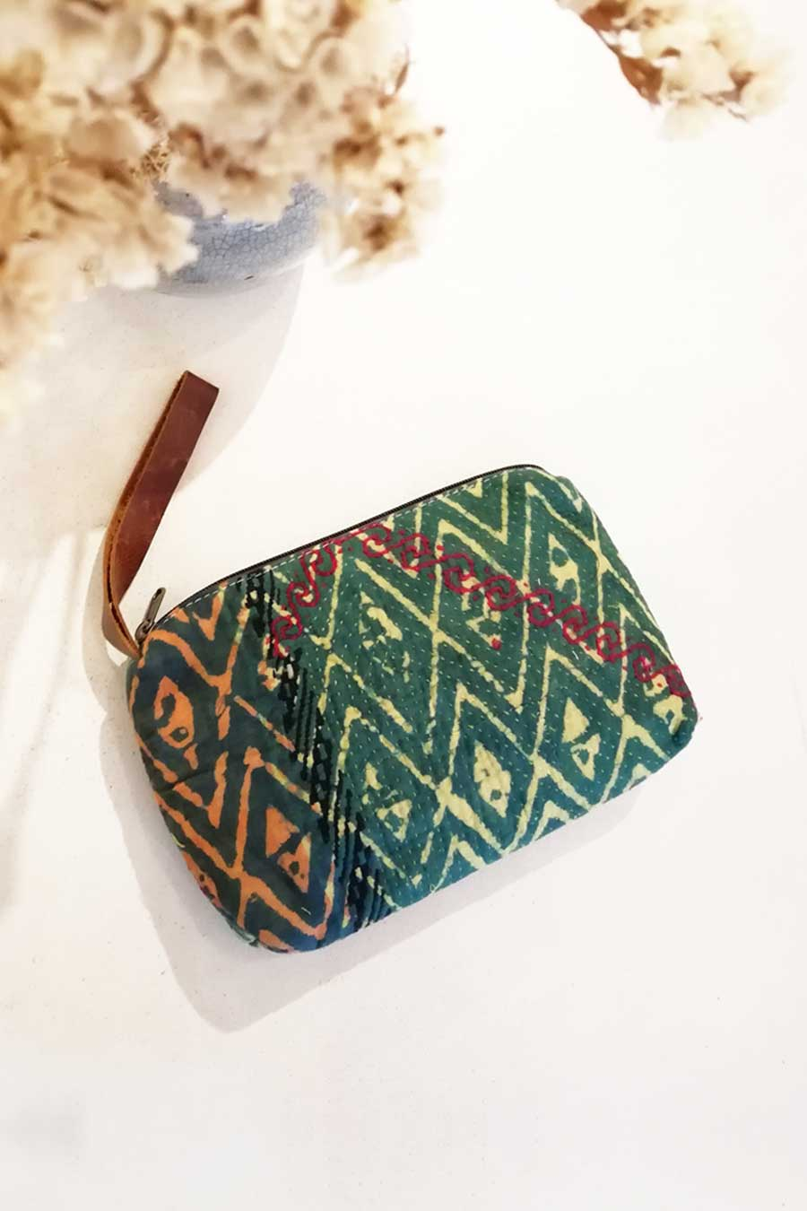 Boho Clutch  Bag from Vintage Fabric