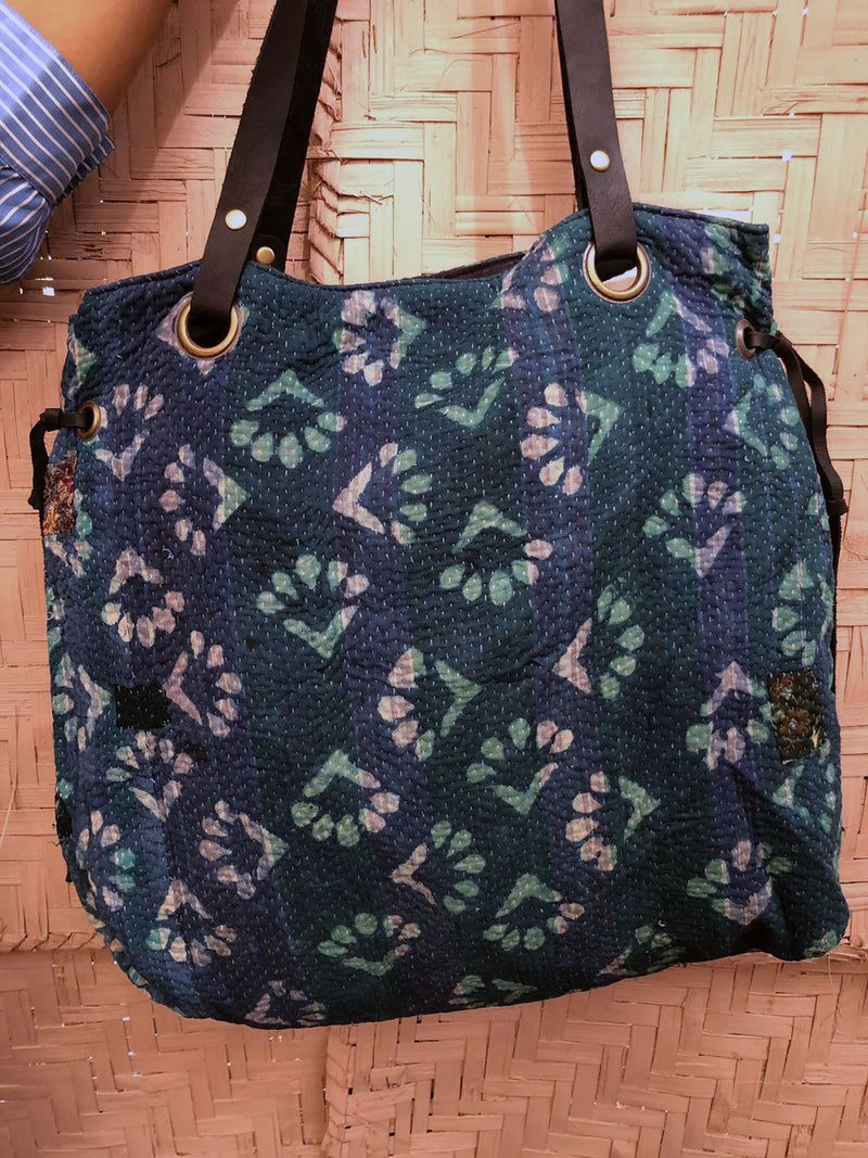 Boho Vintage Fabric Shoulder Tote Bag