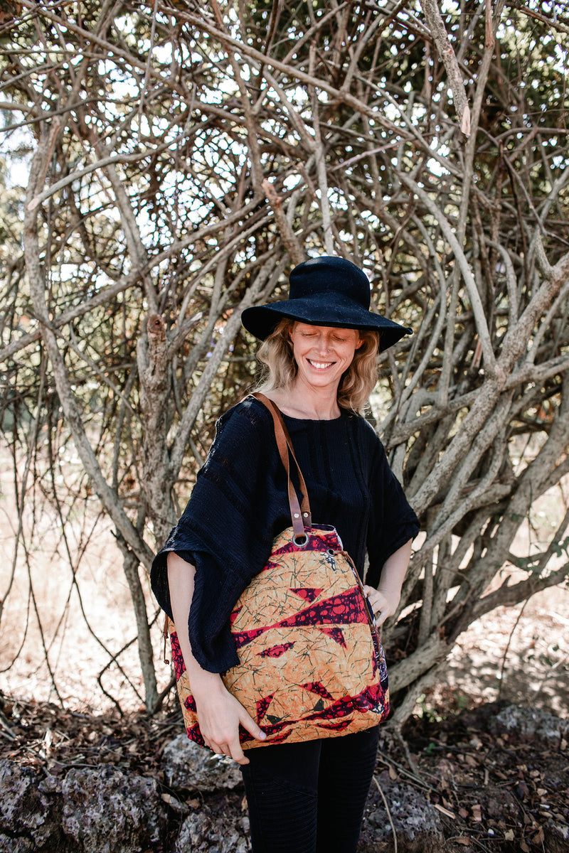 Vintage Kantha Fabric Shoulder Bag