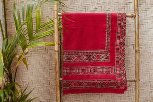 KULU SHAWL ARROW RED