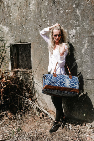 Weekend Travel Bag from Block Print Fabric