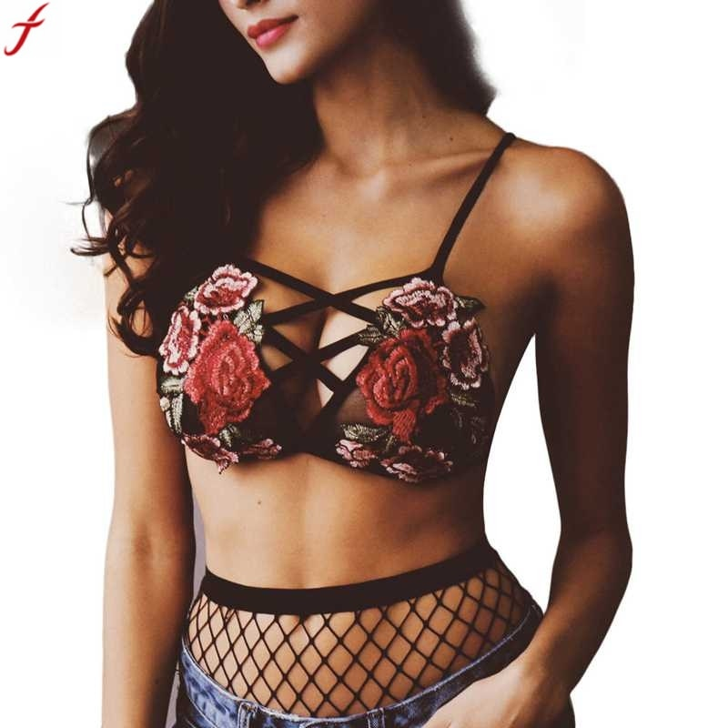 2018 Women Bra Embroidered Floral Lace