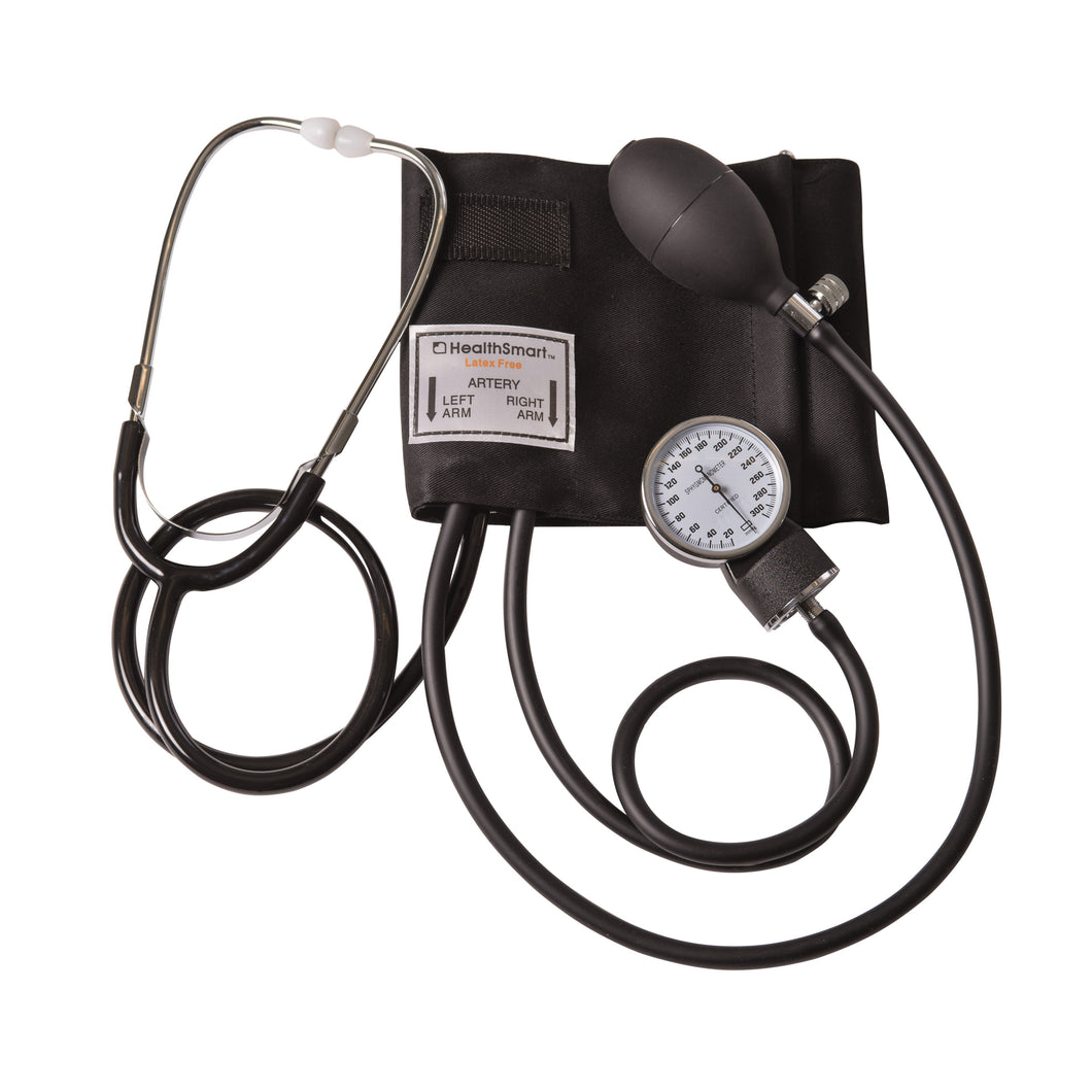 Manual Blood Pressure Cuff - Stethoscope & Blood Pressure Cuff Sets - Manual Home Blood Pressure Monitor with Standard Cuff and Stethoscope, Black
