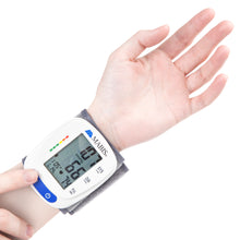 Blood Pressure Monitor Wrist Cuff - MABIS Digital Portable Wireless Blood Pressure Gauge Kit Monitors for Pulse, Irregular Heartbeat, and High & Low Blood Pressure