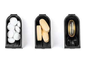 nokabox Premium 7-Day Pill Organizer - Designer Weekly Travel Pill Case, Espresso