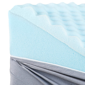 HealthSmart Premium Foam Bed Wedge Pillow with Spill-Resistant Cover, Gray Links, 12 X 24 X 24 inches