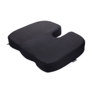 DMI Molded Foam Coccyx Seat Cushion Pillow - Helps with Sciatica Back Pain, Black