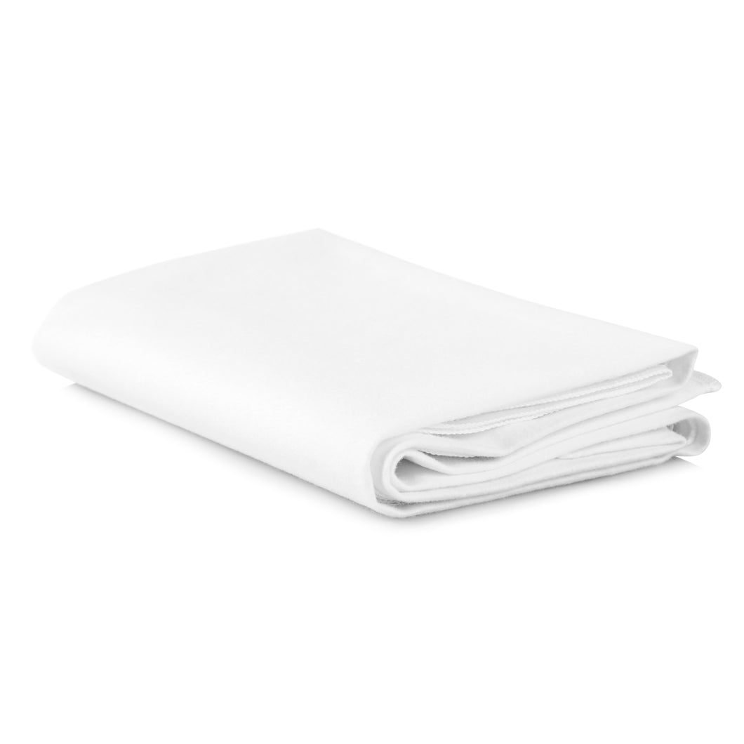 Duro-Med Waterproof Sheet and Mattress Protector: Cotton Flannel Sheets with Synthetic Rubber Bottom - Machine Washable Flat Cloth Cover for Bed, Crib, or Changing Table - White, 36x36 (3-layer material)