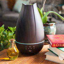 Aromatherapy Diffuser Cool Mist Humidifier - Oil Diffuser for Essential Oils: Ultrasonic Vaporizer Cool Mist with 4 Timers, 2 Misting Modes & 7 LED Light Colors - Large 500ml Capacity (Brown)