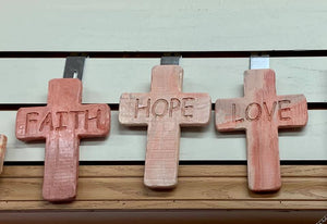 Hope Cross by Kicking Bird Pottery
