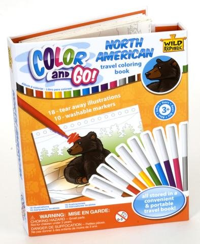 Wild Republic North American Travel & Go coloring book