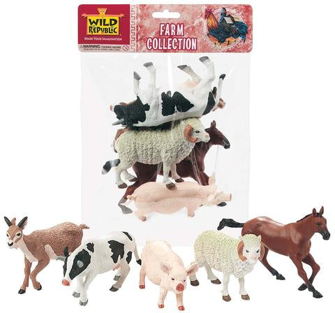 Wild Republic Polybag of Farm Animals