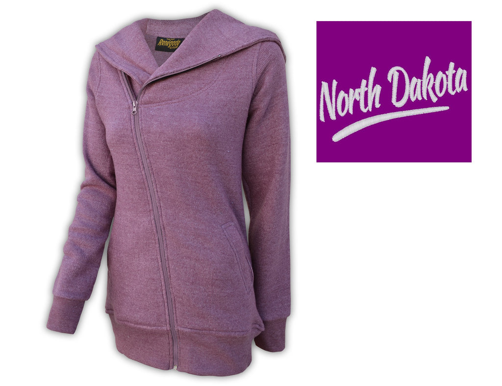 Women's North Dakota Zip front Embroidered Sweatshirt