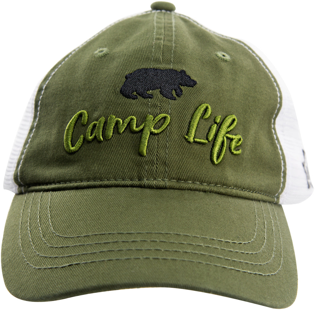 Camp - Olive Green Adjustable Mesh Hat