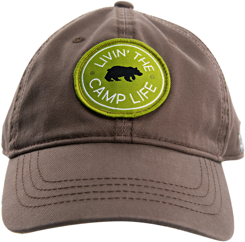 Camp Life - Cocoa Brown Adjustable Hat