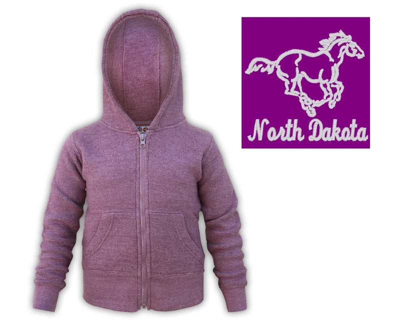 Kids Medora ND Zip front Sweatshirt