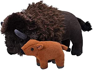 Wild Republic Mom and Baby Bison plush
