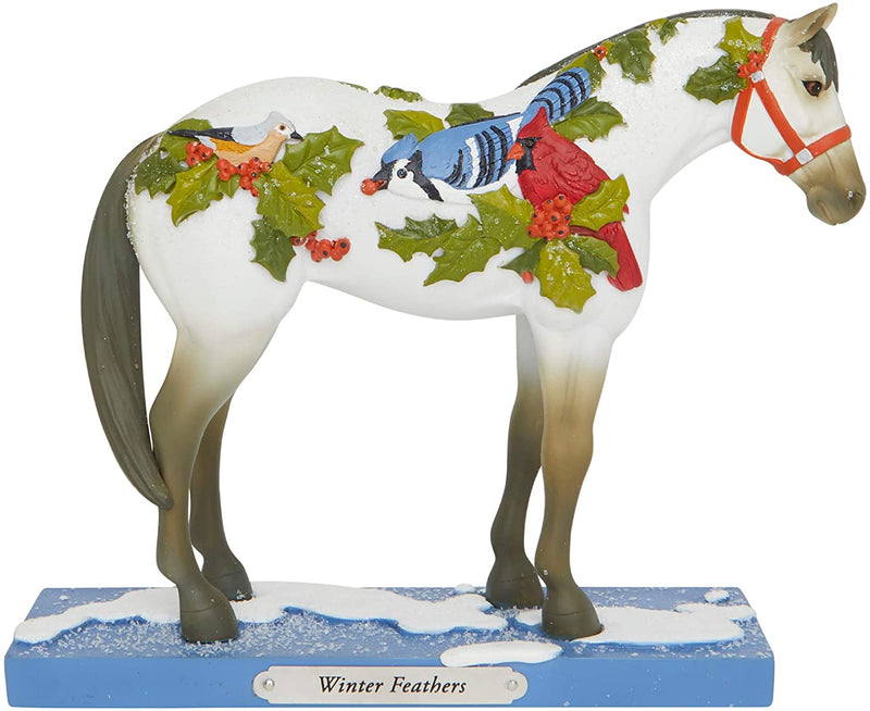 Winter Feathers Figurine by Trail of Painted Ponies