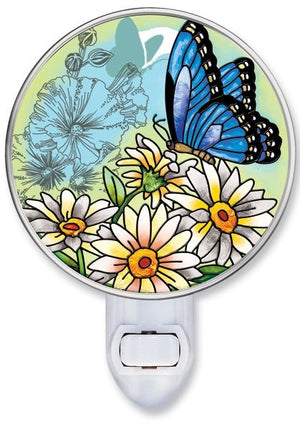 Butterfly Garden in Bloom Night Light