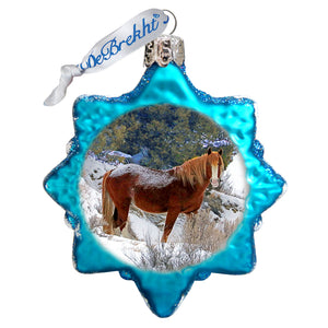 Chasing Horses 6 pack Ornaments