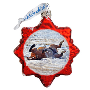 Chasing Horses 3 pack Ornaments