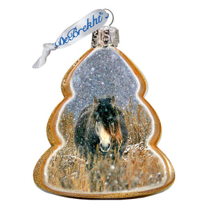 Chasing Horses 2020 Glass Ornaments