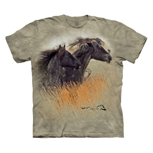 Stallion Arrowhead with Mares Blue & Velvet T-shirt