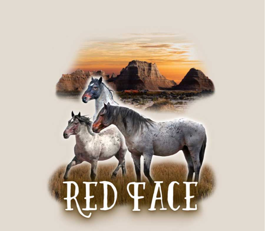 Stallion Red Face T-Shirt