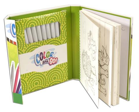 Animal Color and Go Travel Coloring Book