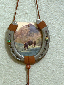 Bison Decorated Horse Shoe