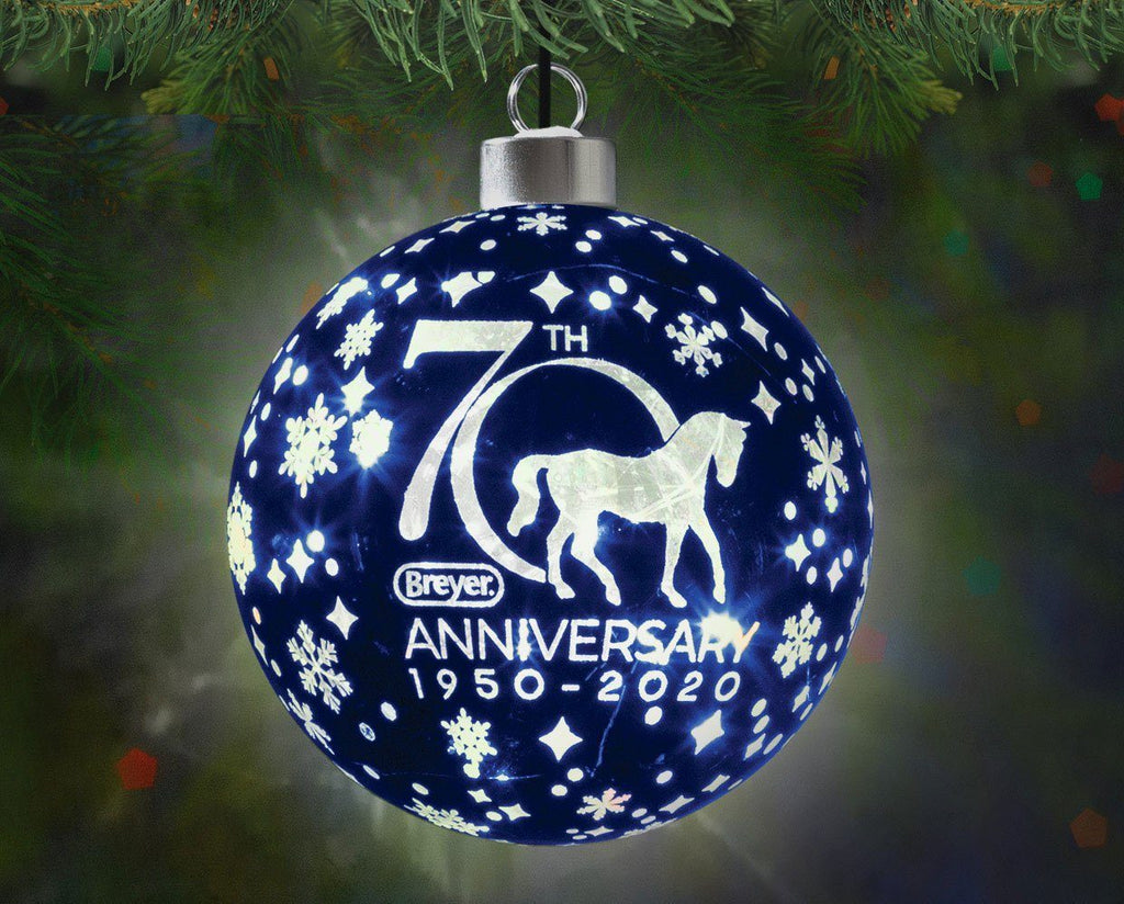 BREYER 70TH ANNIVERSARY GLASS BALL ORNAMENT