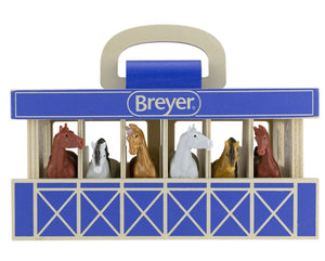 BREYER FARMS™ WOOD CARRY STABLE PLAYSET