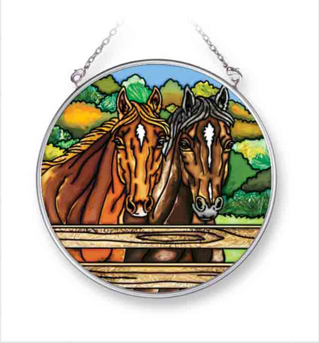 Fenced Horses Sun Catcher