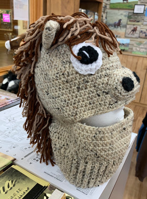 Ski Mask Crocheted Horse Hat