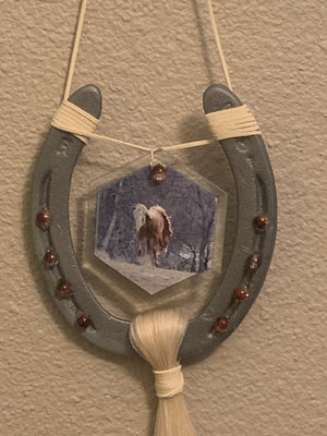 Stallion Cloud Decorated Horse Shoe