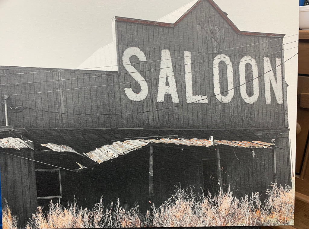 Local Artist Christine Kman Saloon 16x20 canvas