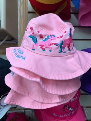 pretty pink horses bucket hat