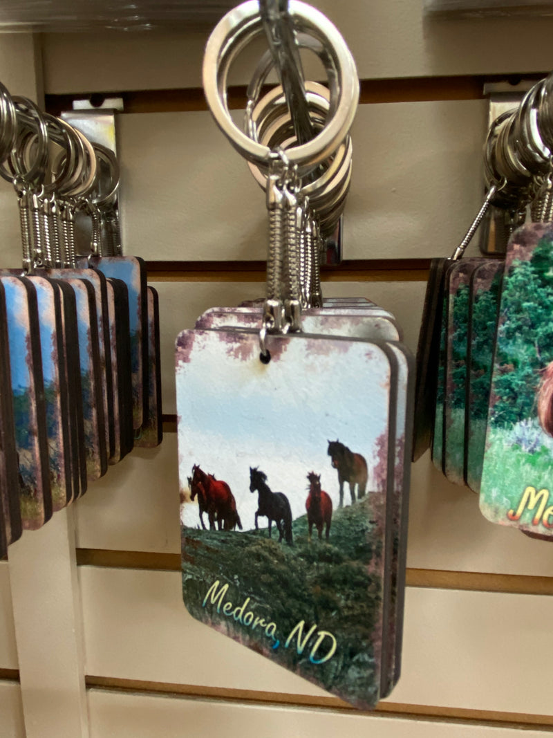 1 Chasing Horses 2 x 3 Keychains