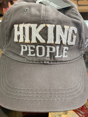 Hiking People Adjustable hat with Medora, ND
