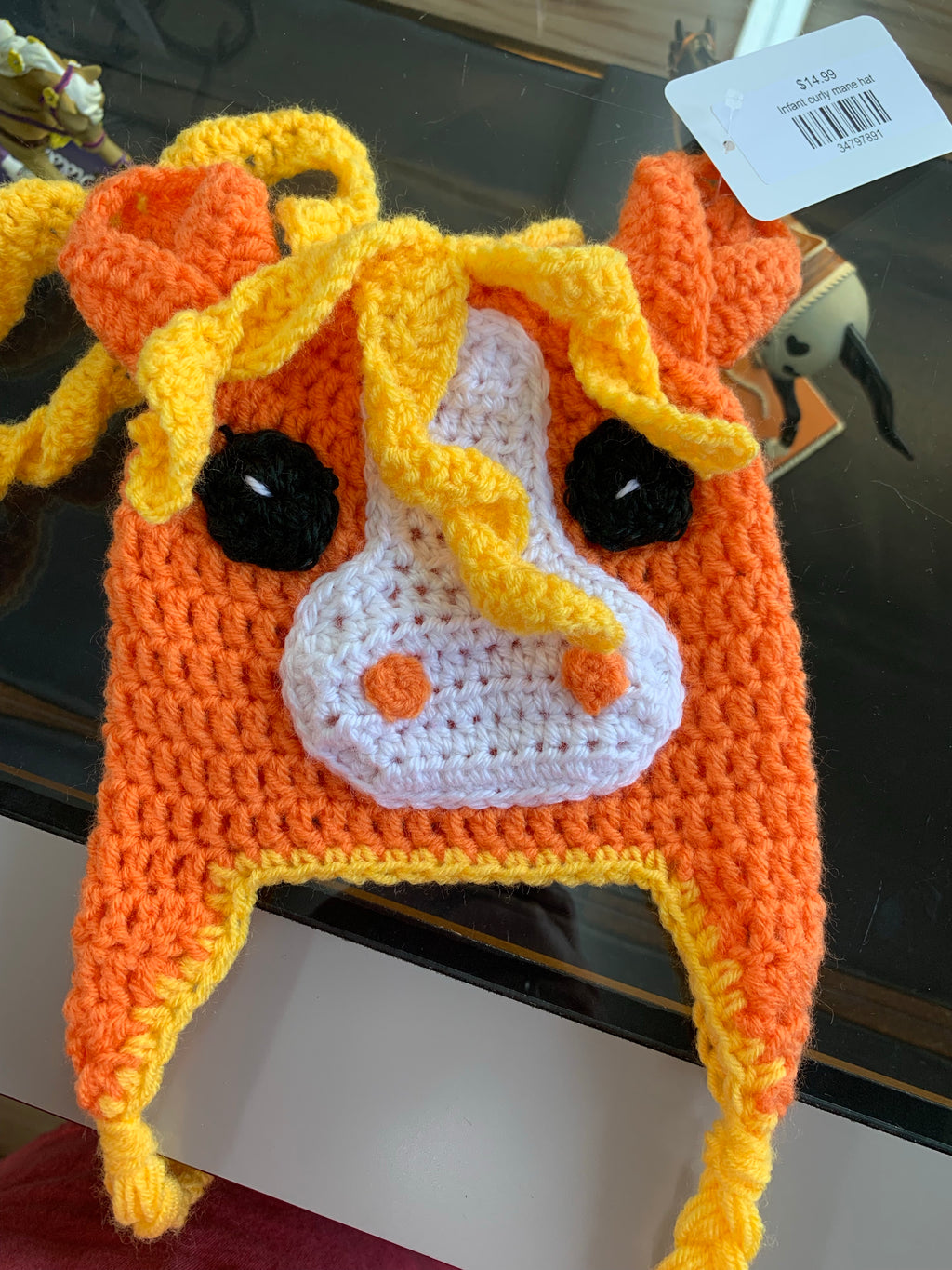 Infant curly mane hat