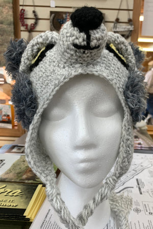 Crocheted Wolf Hat