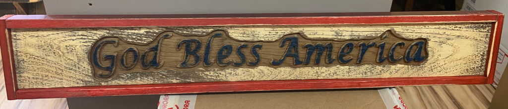 Local Artist Mike Piroutek God Bless America sign