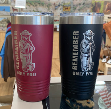 Smokey the Bear 75th Anniversary travel mug