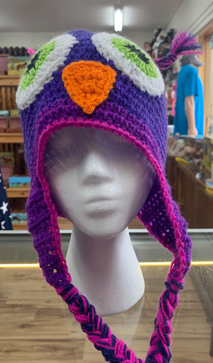 Crocheted Owl Hat